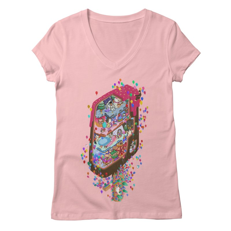 in ice cream Women's V-Neck by makapa's Artist Shop