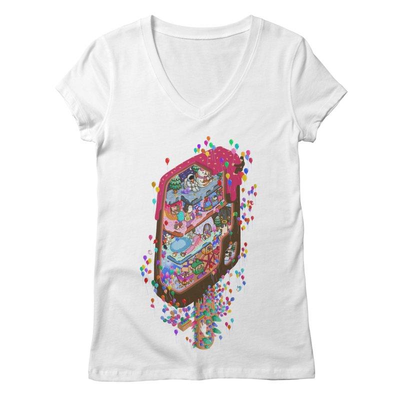in ice cream Women's V-Neck by makapa's Artist Shop