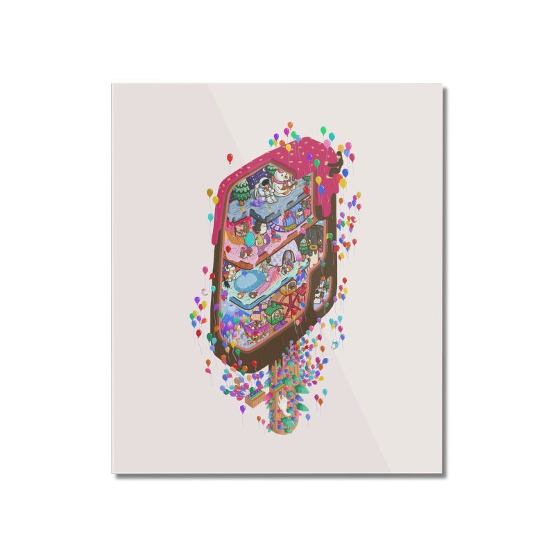 in ice cream Home Mounted Acrylic Print by makapa's Artist Shop