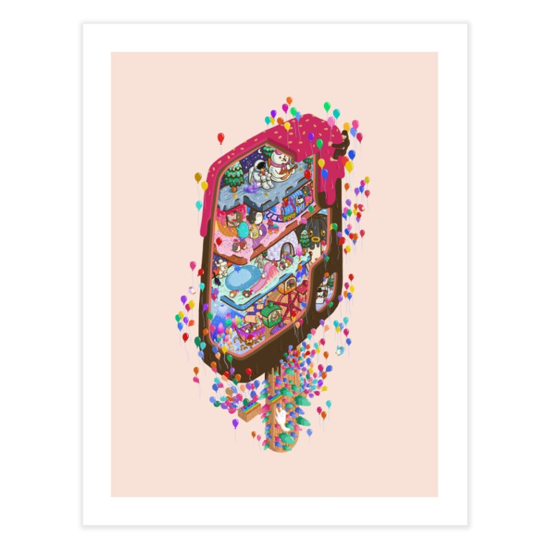 in ice cream Home Fine Art Print by makapa's Artist Shop