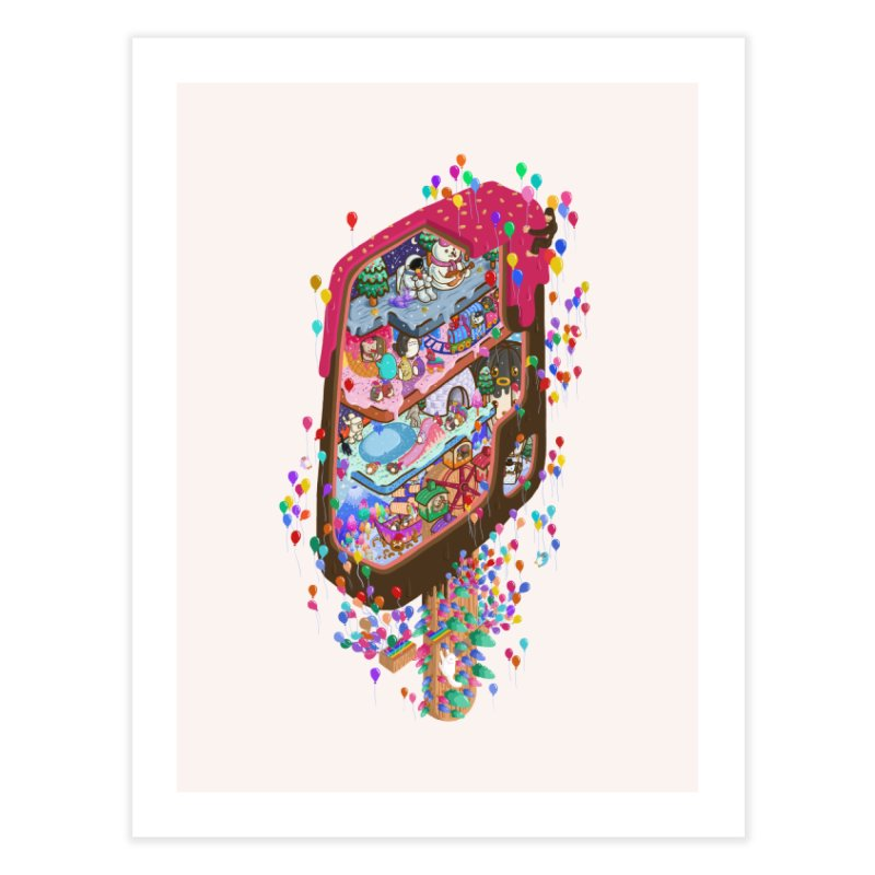 in ice cream Home Fine Art Print by makapa's Artist Shop