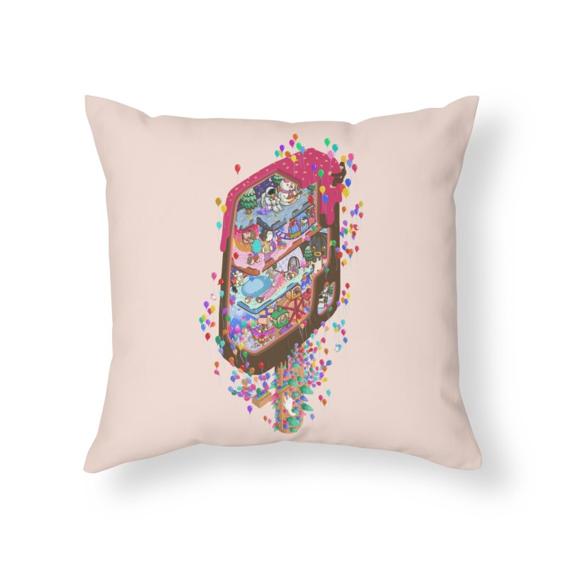 in ice cream Home Throw Pillow by makapa's Artist Shop