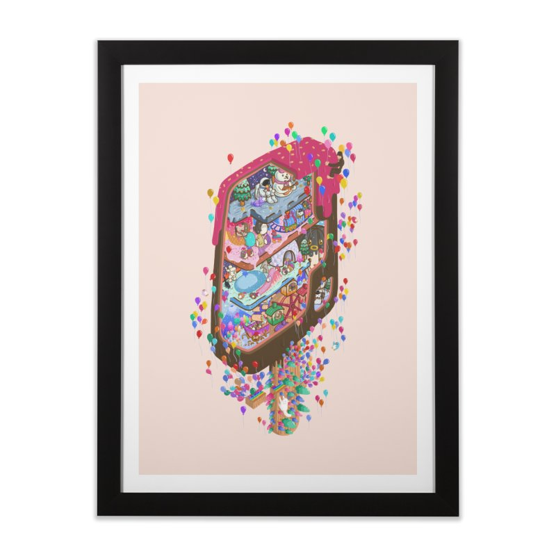 in ice cream Home Framed Fine Art Print by makapa's Artist Shop