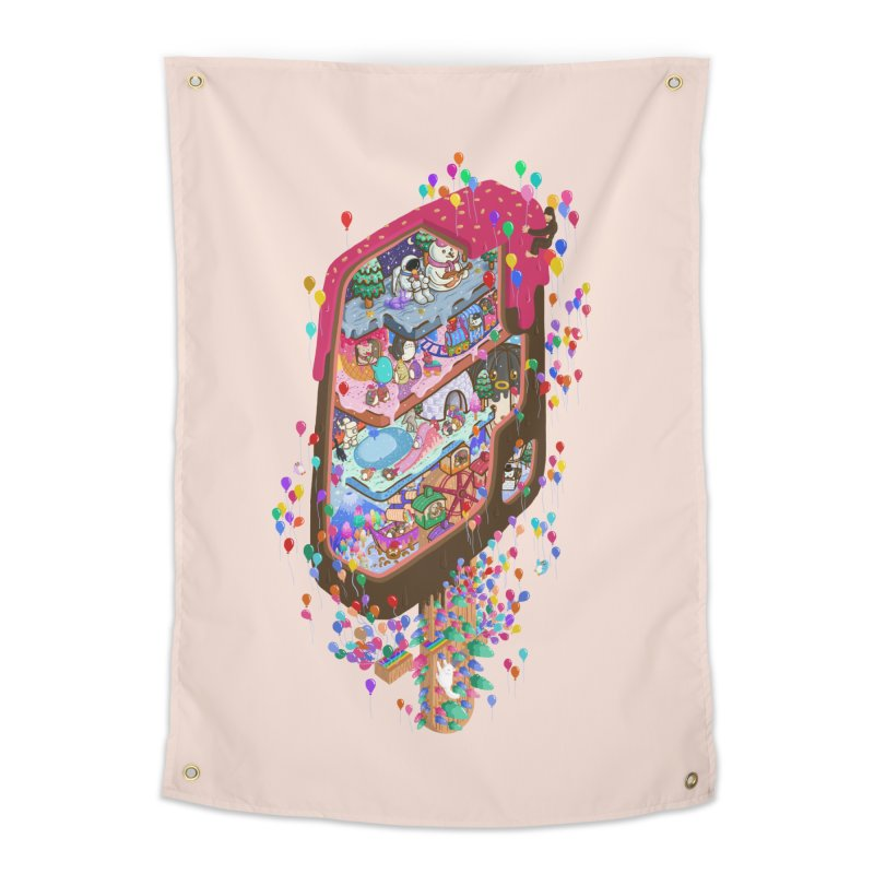 in ice cream Home Tapestry by makapa's Artist Shop