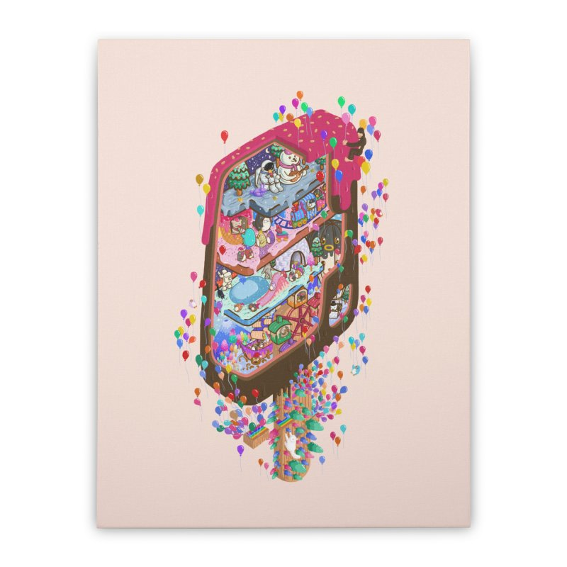 in ice cream Home Stretched Canvas by makapa's Artist Shop