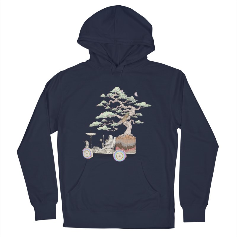 chill on the road Men's French Terry Pullover Hoody by makapa's Artist Shop