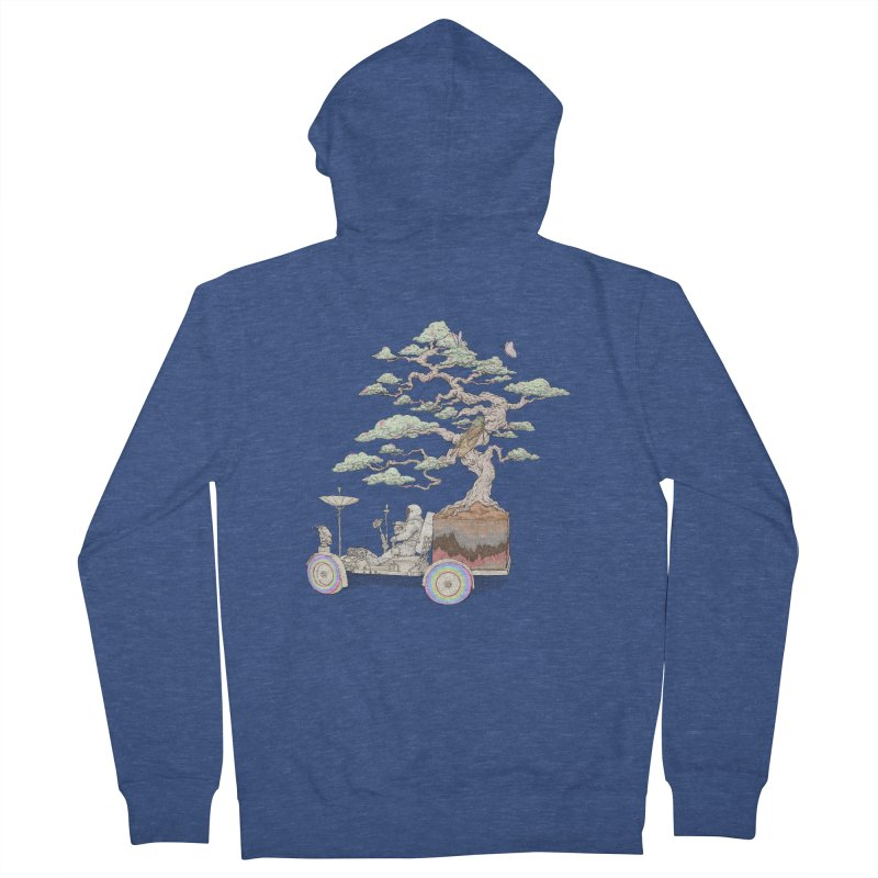 chill on the road Women's French Terry Zip-Up Hoody by makapa's Artist Shop