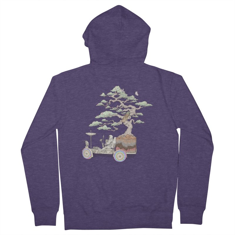 chill on the road Men's French Terry Zip-Up Hoody by makapa's Artist Shop