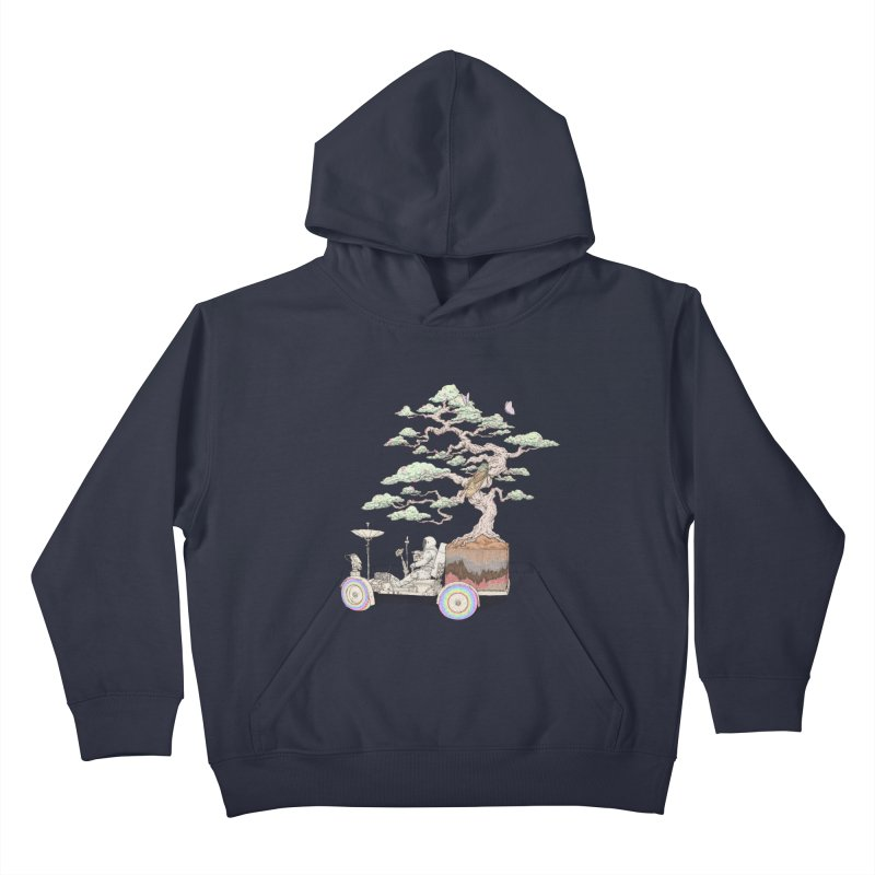 chill on the road Kids Pullover Hoody by makapa's Artist Shop