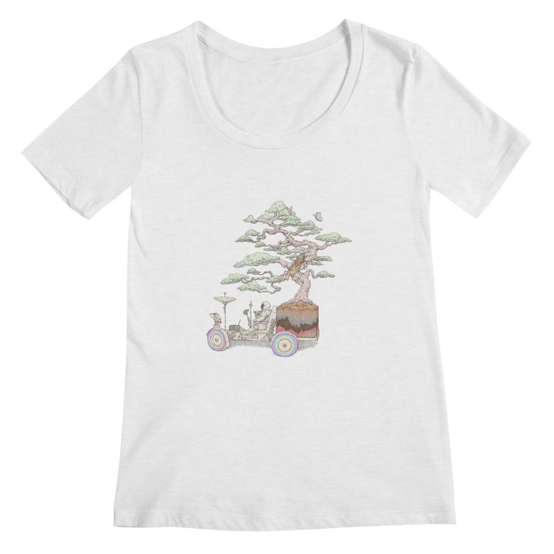 chill on the road Women's Scoop Neck by makapa's Artist Shop