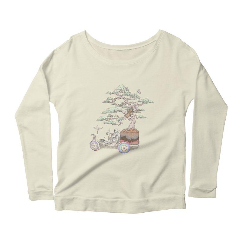 chill on the road Women's Scoop Neck Longsleeve T-Shirt by makapa's Artist Shop