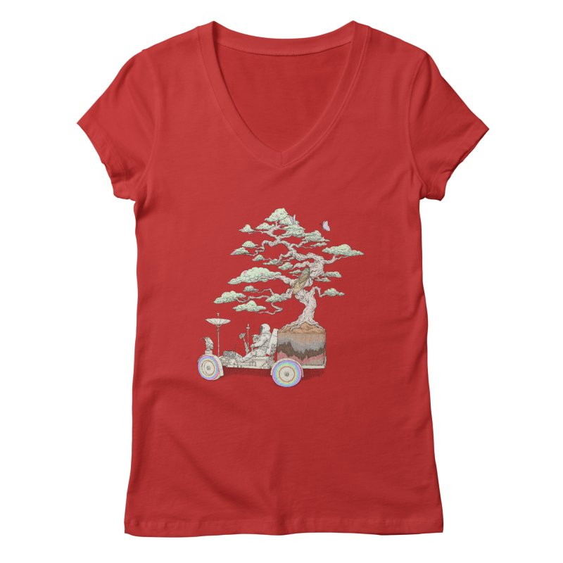 chill on the road Women's Regular V-Neck by makapa's Artist Shop