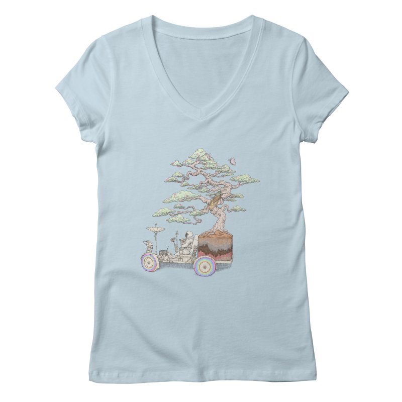 chill on the road Women's V-Neck by makapa's Artist Shop