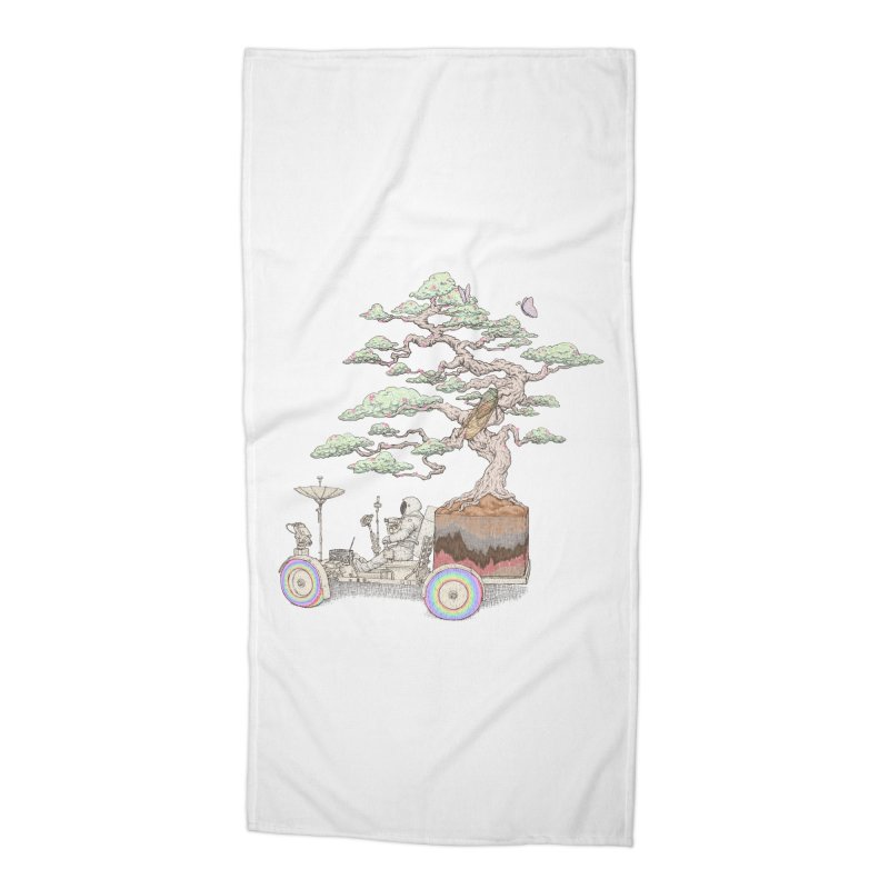 chill on the road Accessories Beach Towel by makapa's Artist Shop