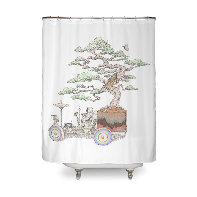 chill on the road Home Shower Curtain by makapa's Artist Shop