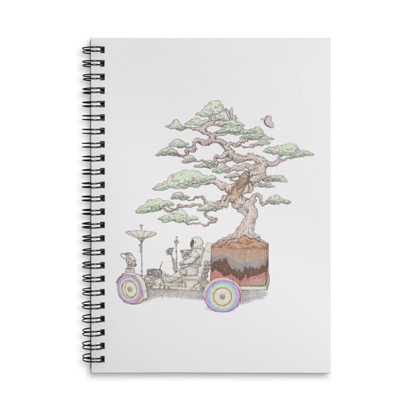 chill on the road Accessories Lined Spiral Notebook by makapa's Artist Shop