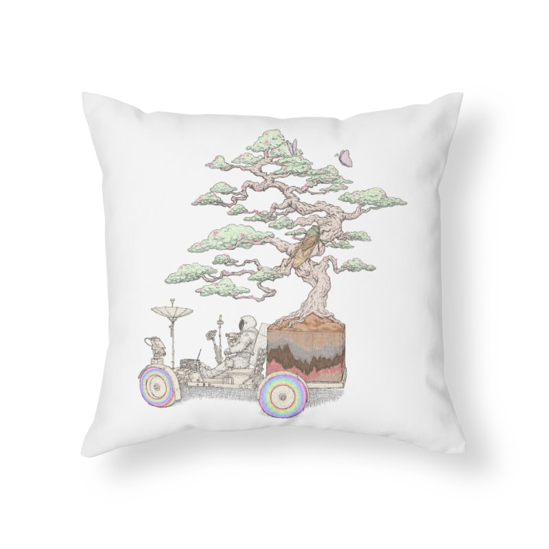 chill on the road Home Throw Pillow by makapa's Artist Shop