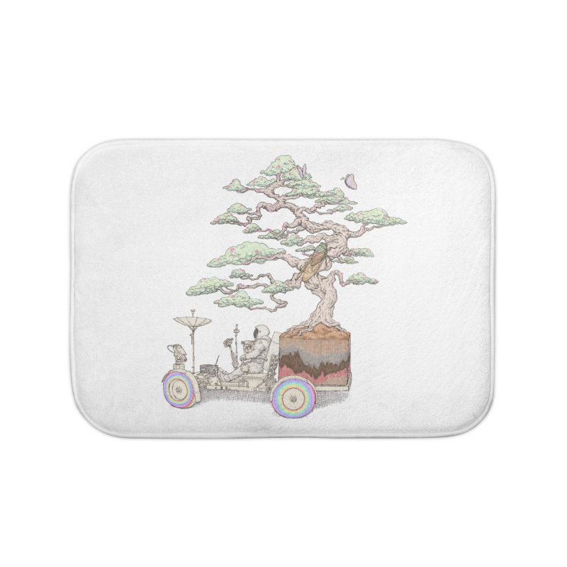 chill on the road Home Bath Mat by makapa's Artist Shop