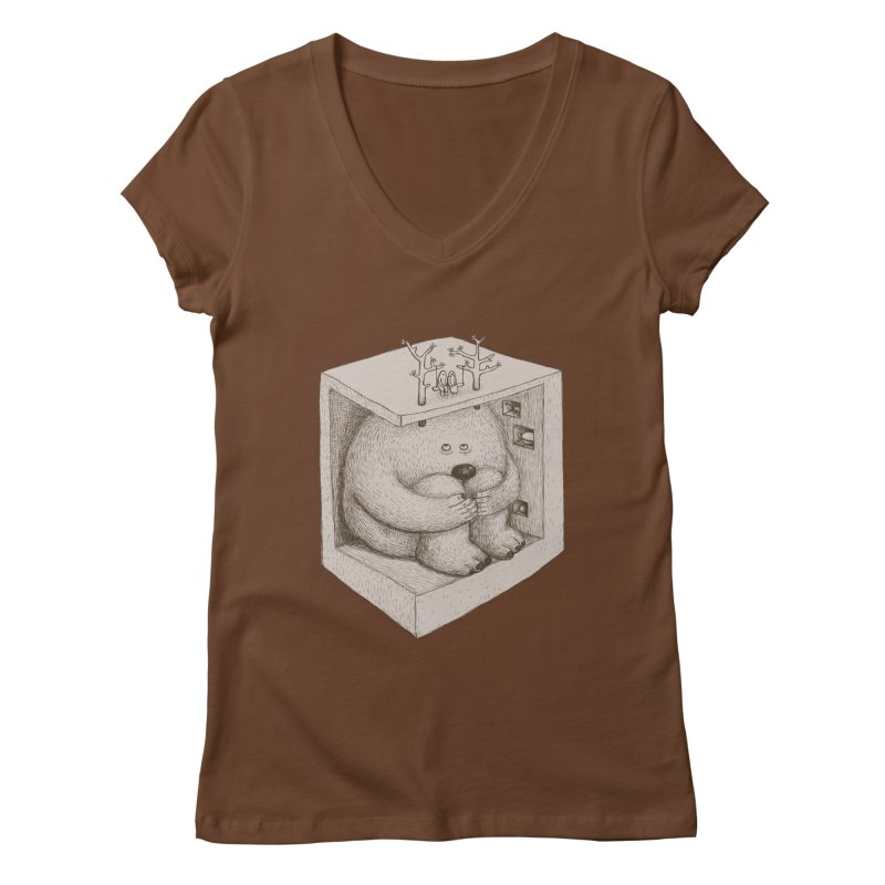 underground imagine Women's V-Neck by makapa's Artist Shop