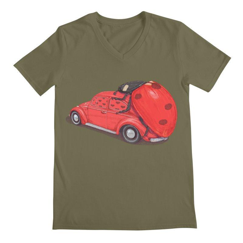 miniatures love Men's Regular V-Neck by makapa's Artist Shop