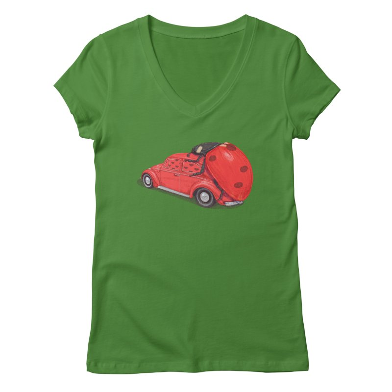 miniatures love Women's Regular V-Neck by makapa's Artist Shop