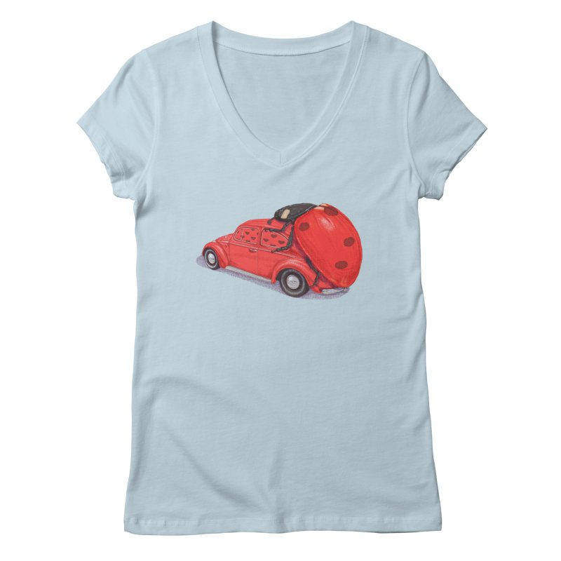 miniatures love Women's V-Neck by makapa's Artist Shop