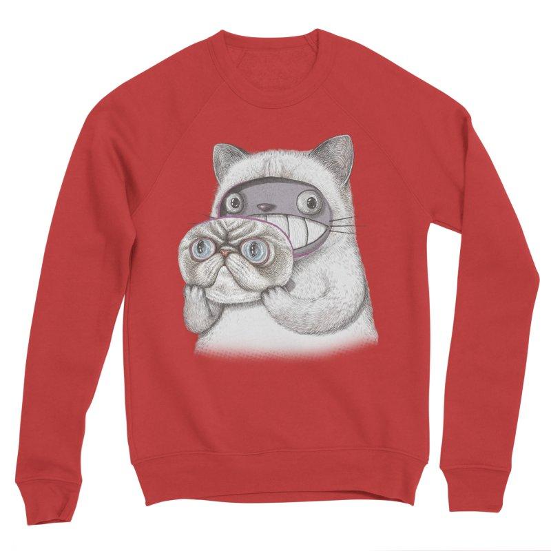 cheeze Men's Sponge Fleece Sweatshirt by makapa's Artist Shop