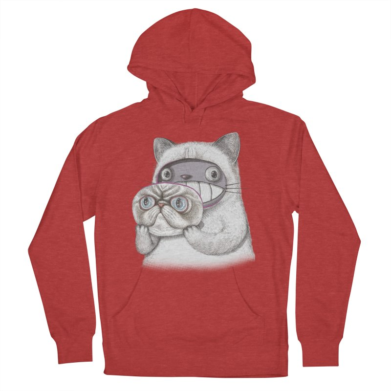 cheeze Women's French Terry Pullover Hoody by makapa's Artist Shop