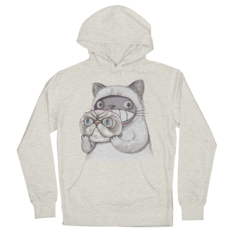 cheeze Men's French Terry Pullover Hoody by makapa's Artist Shop
