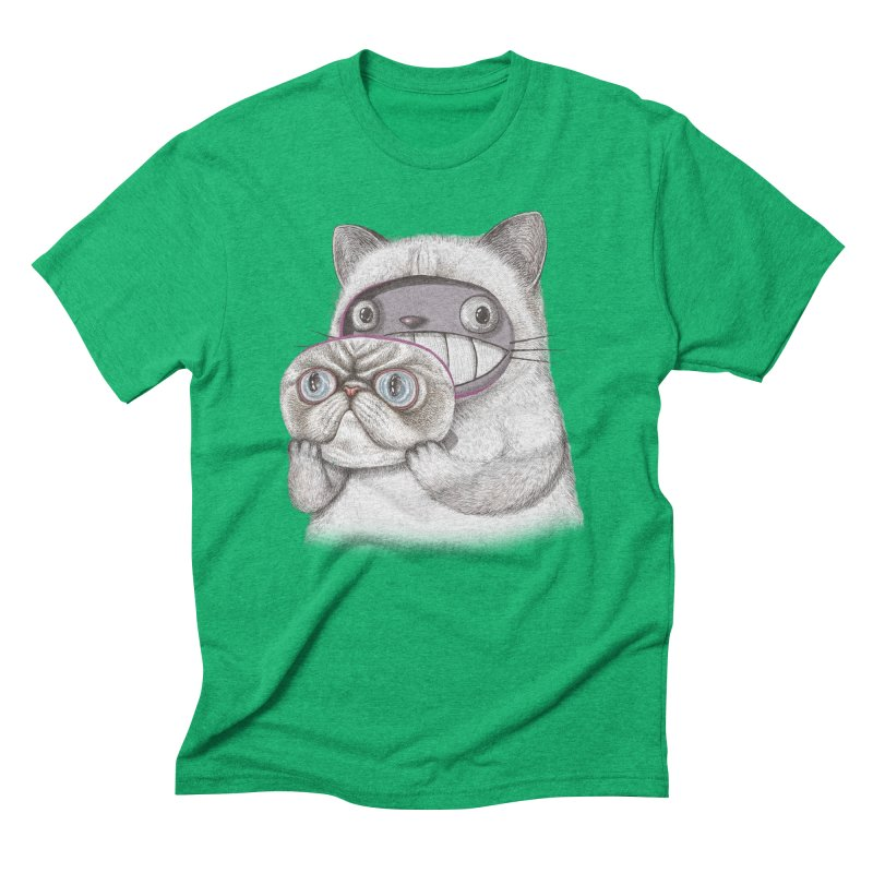 cheeze Men's Triblend T-Shirt by makapa's Artist Shop