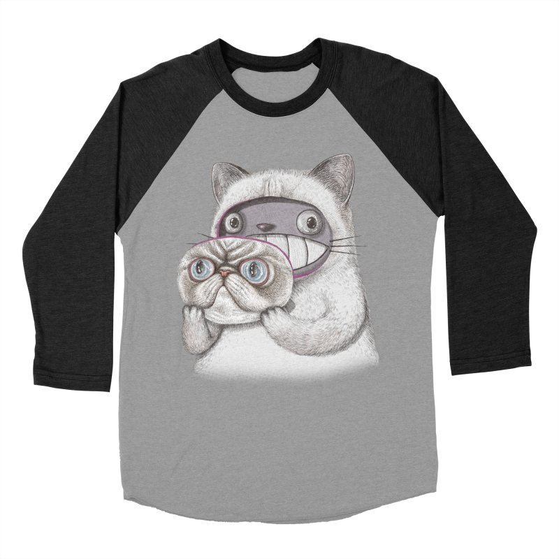 cheeze Men's Baseball Triblend Longsleeve T-Shirt by makapa's Artist Shop