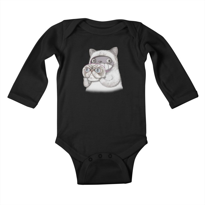cheeze Kids Baby Longsleeve Bodysuit by makapa's Artist Shop