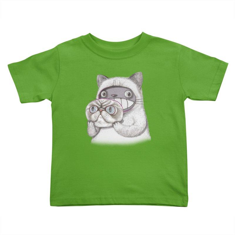 cheeze Kids Toddler T-Shirt by makapa's Artist Shop