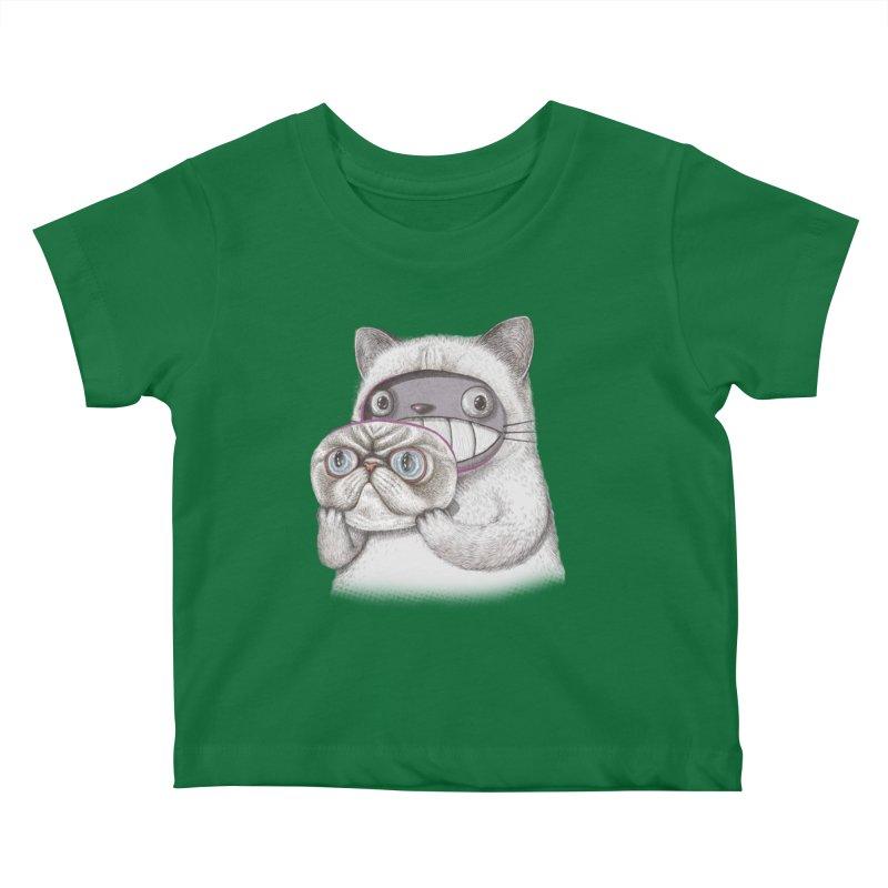 cheeze Kids Baby T-Shirt by makapa's Artist Shop
