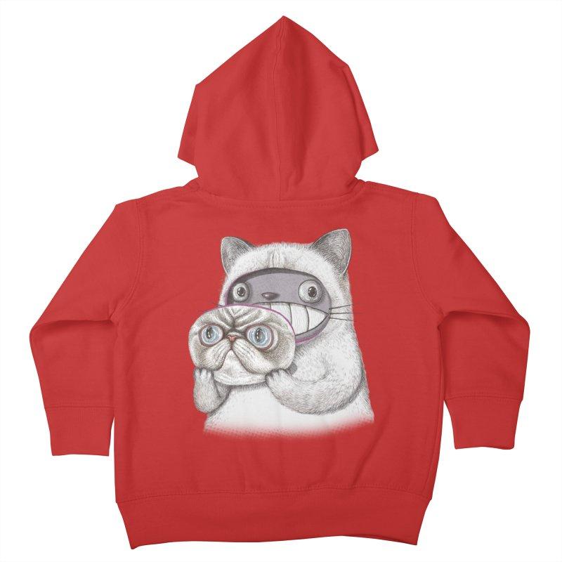 cheeze Kids Toddler Zip-Up Hoody by makapa's Artist Shop