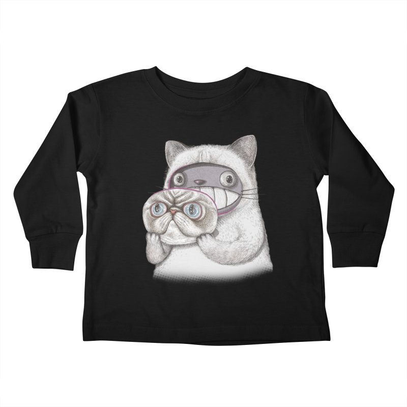 cheeze Kids Toddler Longsleeve T-Shirt by makapa's Artist Shop