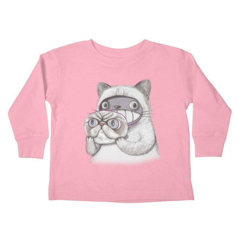 cheeze Kids Toddler Longsleeve T-Shirt by makapa's Artist Shop