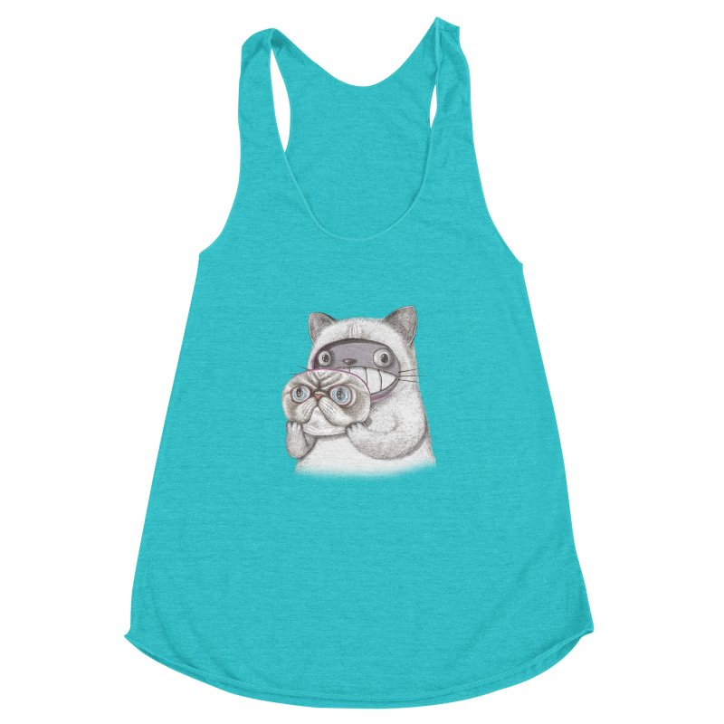 cheeze Women's Racerback Triblend Tank by makapa's Artist Shop
