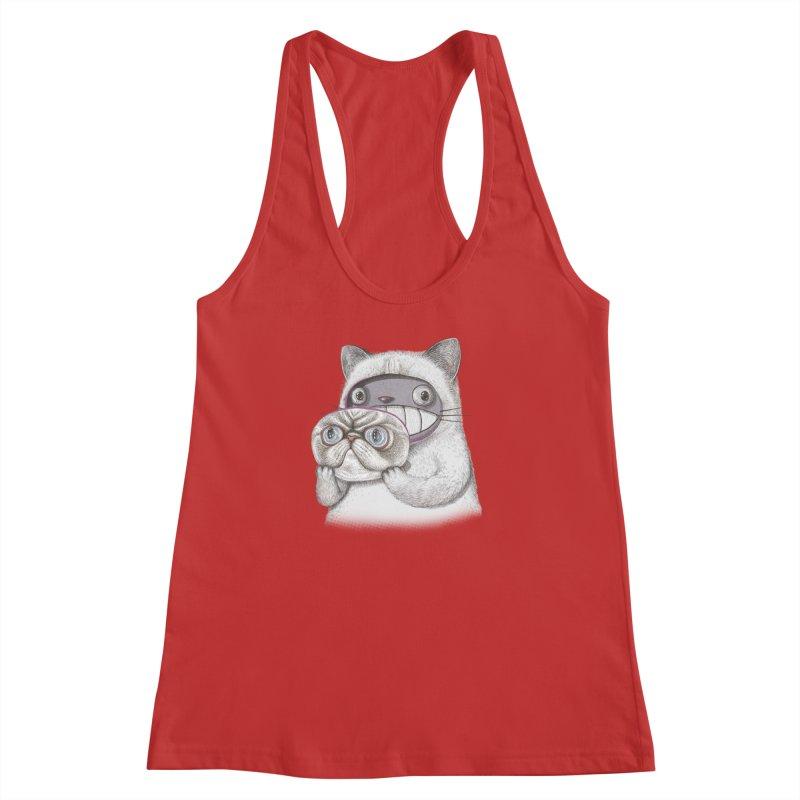 cheeze Women's Racerback Tank by makapa's Artist Shop