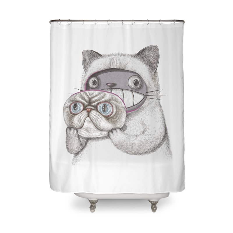 cheeze Home Shower Curtain by makapa's Artist Shop