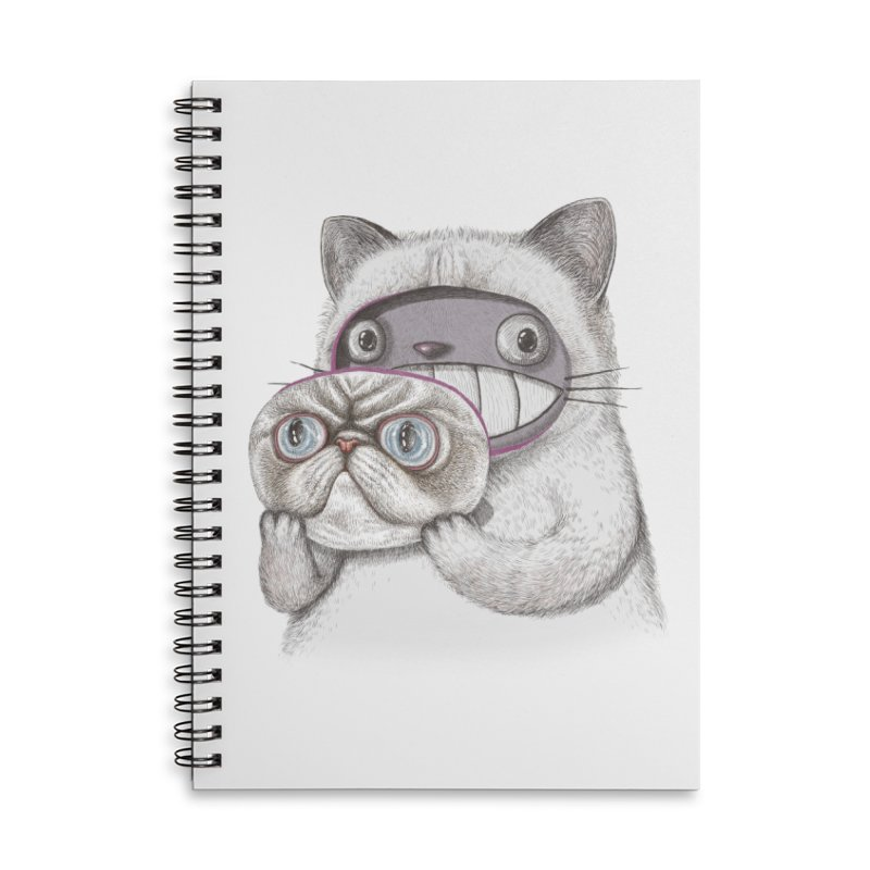 cheeze Accessories Lined Spiral Notebook by makapa's Artist Shop