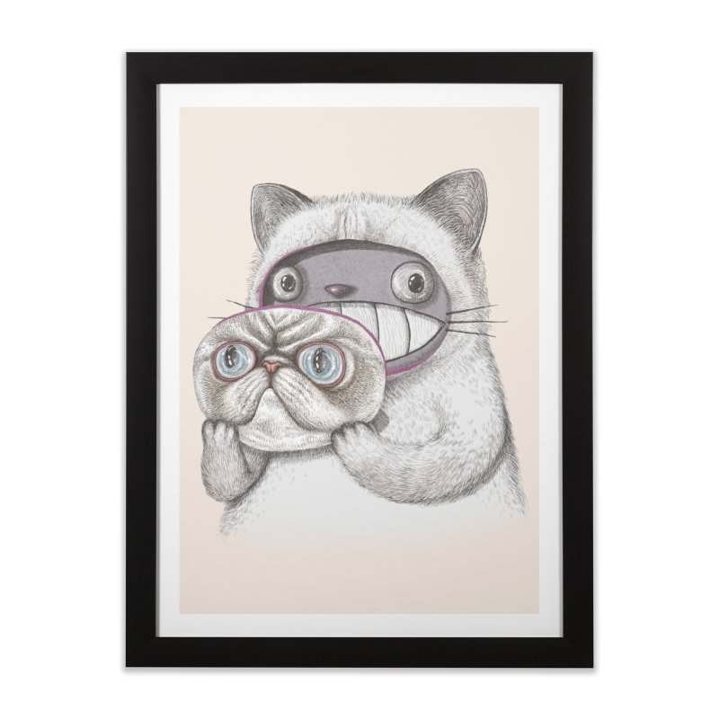 cheeze Home Framed Fine Art Print by makapa's Artist Shop