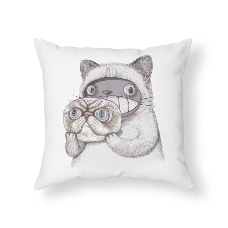 cheeze Home Throw Pillow by makapa's Artist Shop