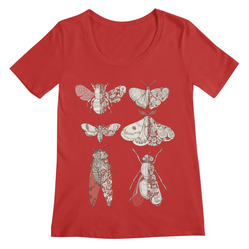 sci-fly collection Women's Scoop Neck by makapa's Artist Shop