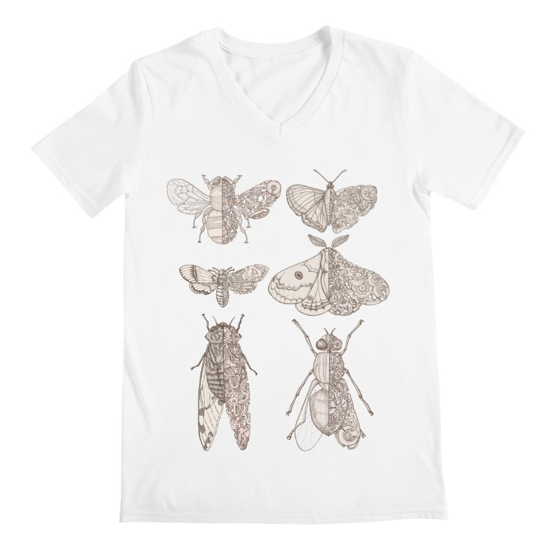 sci-fly collection Men's Regular V-Neck by makapa's Artist Shop