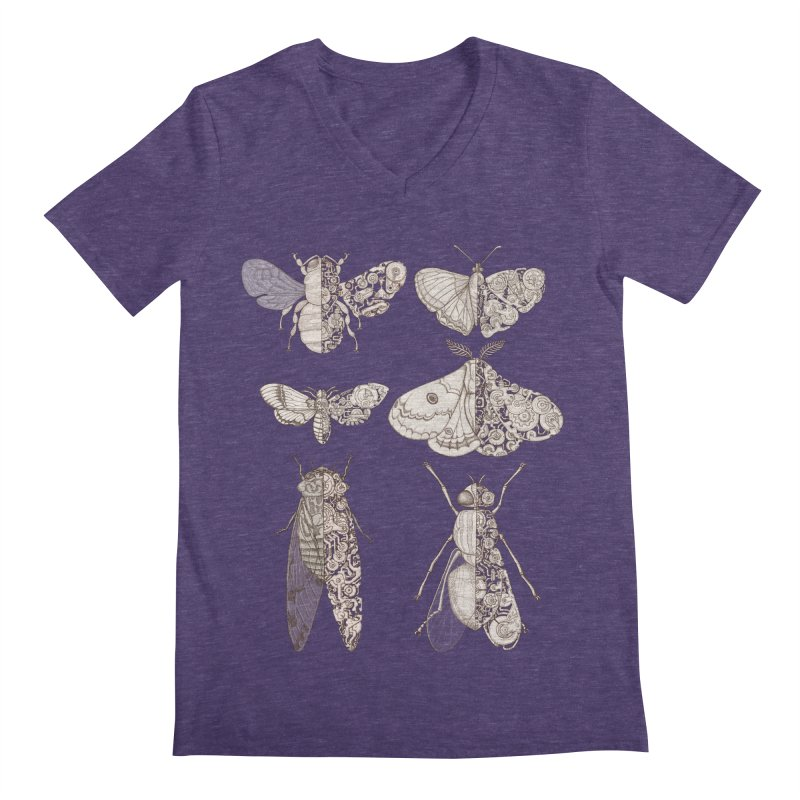 sci-fly collection Men's V-Neck by makapa's Artist Shop