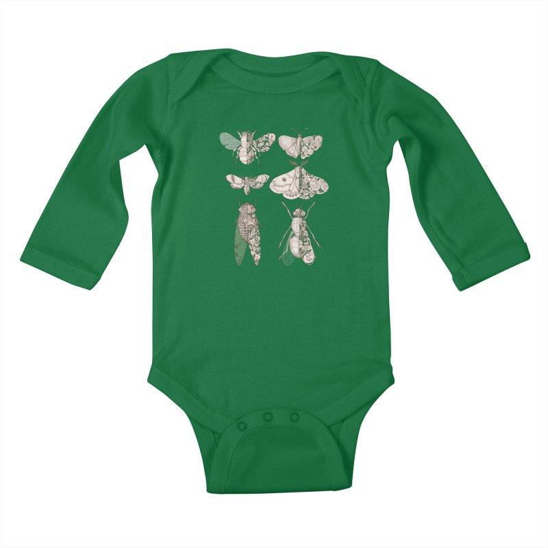 sci-fly collection Kids Baby Longsleeve Bodysuit by makapa's Artist Shop