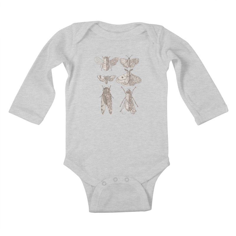 sci-fly collection Kids Baby Longsleeve Bodysuit by makapa's Artist Shop