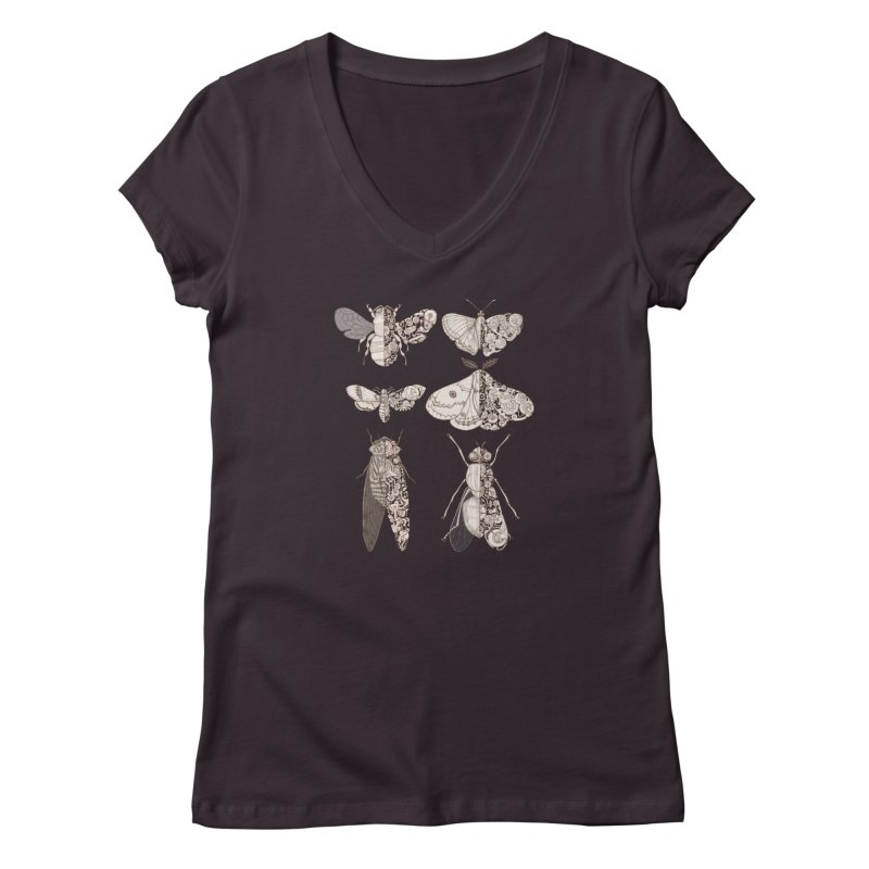 sci-fly collection Women's V-Neck by makapa's Artist Shop
