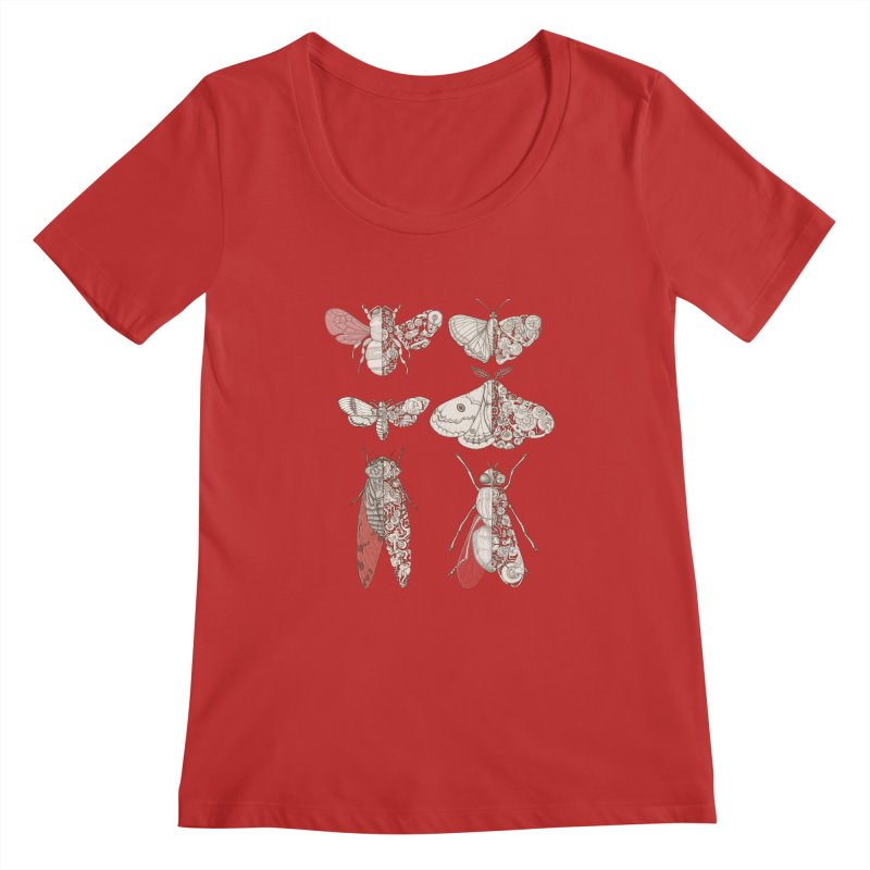 sci-fly collection Women's Regular Scoop Neck by makapa's Artist Shop